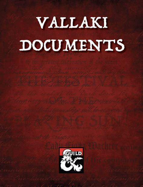 Vallaki Documents Ephemera For Curse Of Strahd Dungeon
