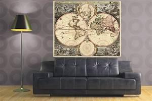 Tableau Du Monde : carte du monde toile ~ Teatrodelosmanantiales.com Idées de Décoration