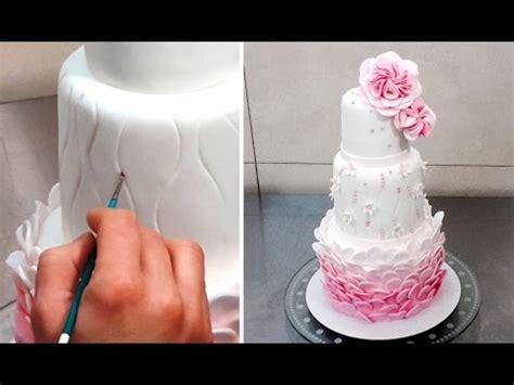 wedding cake decorating tutorial decorar  fondant