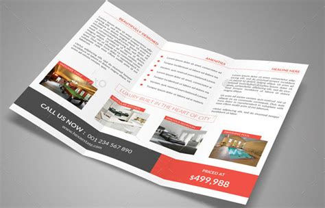 Real Estate Tri Fold Brochure Template by 20 Great Real Estate Brochure Templates Desiznworld
