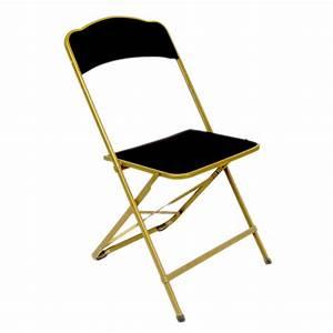 Chaise Velours Noir : chaise velours noir et or pliante assistance r ceptions location de mat riel queven ~ Teatrodelosmanantiales.com Idées de Décoration