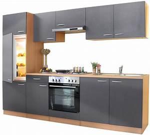 Küche Mit Amerikanischem Kühlschrank : k chenzeile 270 cm buche grau einbauk che k che komplett k che k hlschrank ebay ~ Sanjose-hotels-ca.com Haus und Dekorationen
