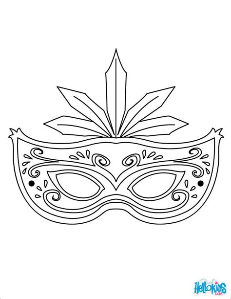 Masquerade Mask Template For Adults by Masks Coloring Pages 9 Printable Masks Templates