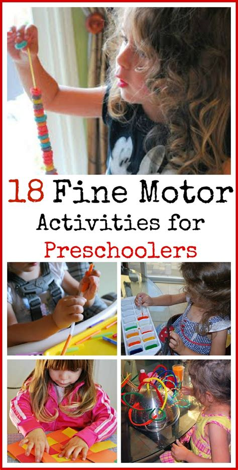 18 motor activities for preschoolers mess for less 869 | Fine motor activities for Preschoolers1
