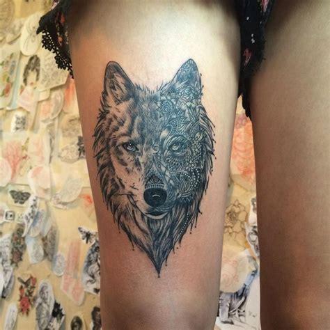 lone wolf tattoo ideas  pinterest