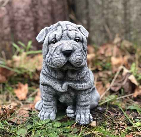 Garten Deko Hund by Steinfigur Shar Pei Frostfest Wetterfest Gartenfigur