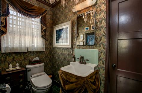haunted mansion bathroom   apartment therapy