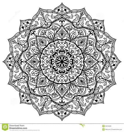 Kleurplaat Aler Liefe Nich by Mittelalterliche Schwarzweiss Mandala Vektor Abbildung