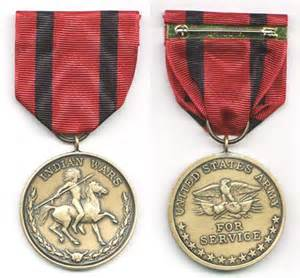 Indian War Medals United States