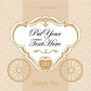 wedding invitation with carriage design vector 02 vector With wedding cards vector images free download