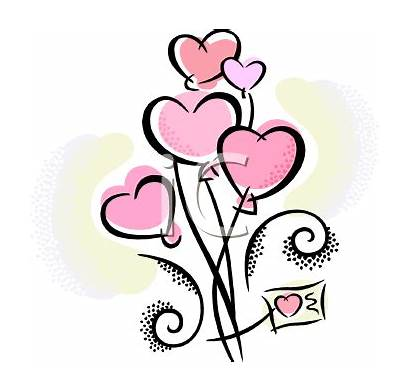 Balloons Clipart Clip Heart Shaped Valentine Pink