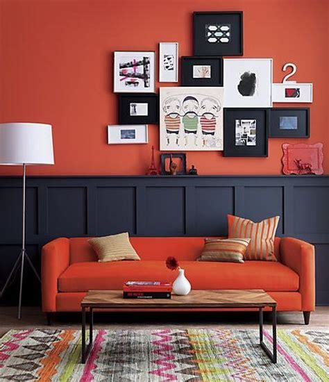 what color paint goes well with an orange couch quora