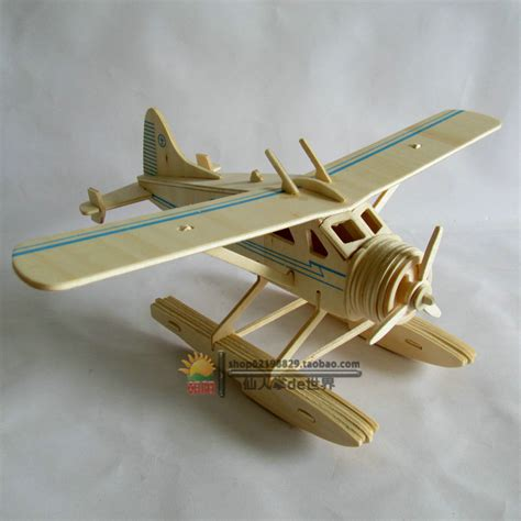 Kaya Kayu Painting Kit sale educational toys 3d plane model wooden puzzles