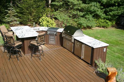 two level kitchen island designing outdoor kitchens professional deck builder