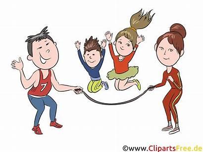Clipart Mutter Vater Spielen Springen Kindern Bild