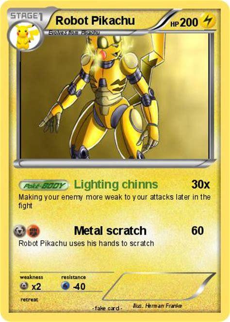pokemon robot pikachu   lighting chinns  pokemon card