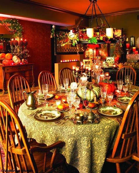 richly colorful thanksgiving dining room pictures photos