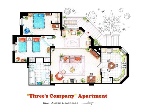 detailed floor plan drawings  popular tv  film homes