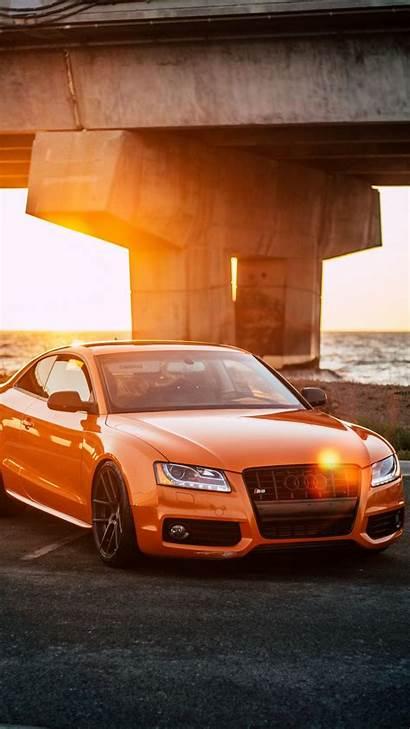 Iphone Orange Audi Concrete Road Coupe Gray