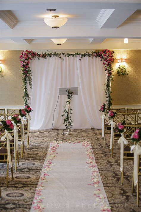 ivory aisle runner simple wedding surrounding flowers