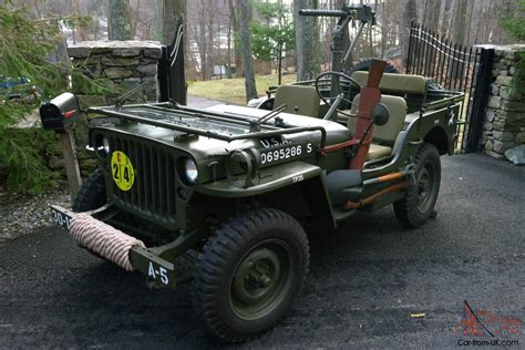 wwii jeep willys 1945 willys mb wwii military jeep fully restored no