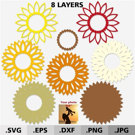 *all links were correct and free at the time of writing, if you notice that one has changed, please let me. Sunflower Mandala Layered Svg Ideas - Layered SVG Cut File
