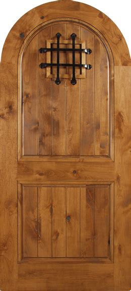 agustin spanish solid rustic knotty alder wood arch door including  lux garage doors
