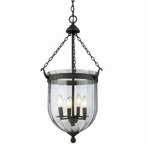 Warwick bronze four light pendant z lite bell urn