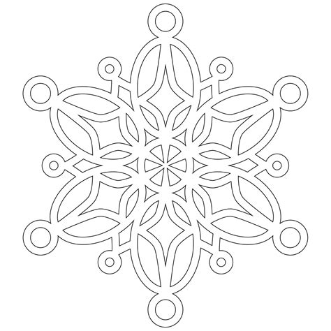 Snowflake Coloring Page Free Printable Snowflake Coloring Pages For
