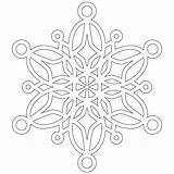 Coloring Pages Snowflake Snowflakes Printable sketch template