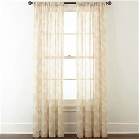 home expressions orlando rod pocket sheer curtain panel