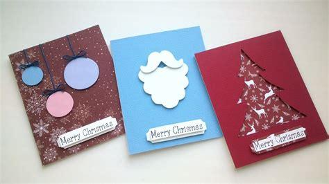 diy easy christmas card ideas handmade card youtube