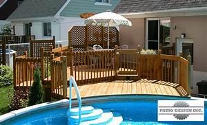 patio avec piscine hors terre exterieur pinterest With photo de jardin avec piscine 2 photo gallery de beaux decks de piscine