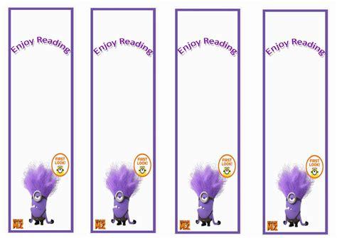 Despicable Me Bookmarks Birthday Printable
