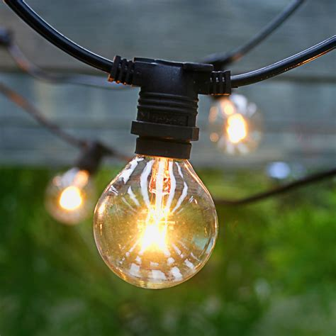 outdoor patio string lights 25 socket commercial outdoor string light kit w g40 globe