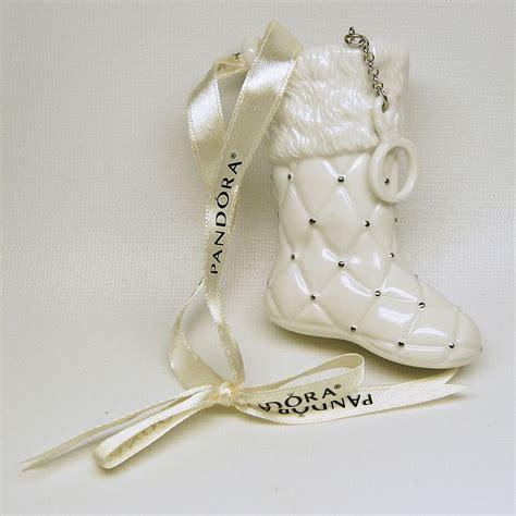 2012 pandora boot or stocking christmas ornament porcelain