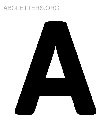 Big ABC Letters to Print | ABC Letters Org