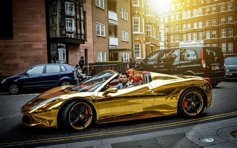gold ferrari chrome gold ferrari 458 spider one of the most unique