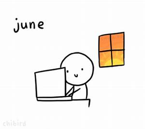 cute tumblr summer animation july june august chibird •