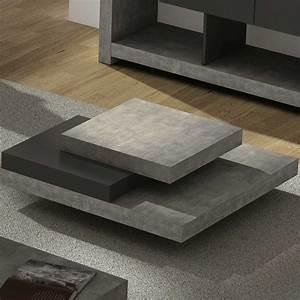 Table Basse En Beton : slate table basse carr e effet b ton achat vente table basse sur ~ Farleysfitness.com Idées de Décoration