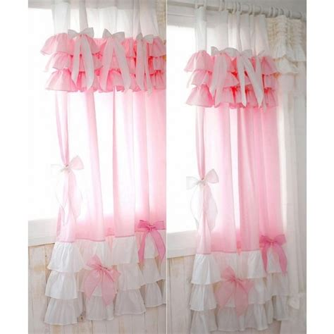 Ruffled Curtains Pink by Ruffle Curtain