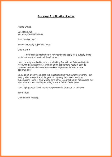 Scholarship Resume Builder by Bursary Application Letter Sle Pdf Resume Builder Cover