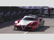 V8powered Alfa Romeo 4C hill climb car is a serious machine