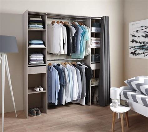 kit dressing imitation ch 234 ne gris 233 e avec rideau 200x80 180x40 dealabs