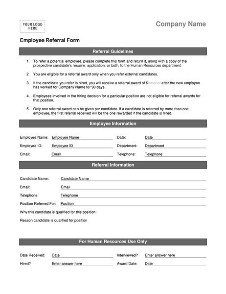 referral program template employee referral program form template templates resume exles jry4r0xgbe
