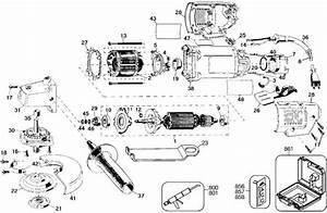 Dewalt Dw402 Grinder Parts  Type 2  Parts