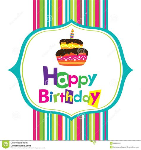 vector happy birthday card stock images image