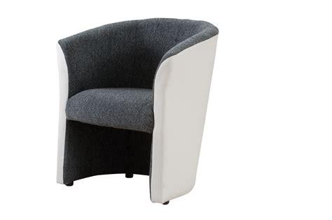 fauteuil cabriolet tissu coloris gris fonc 233 blanc dolly