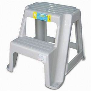 Taiwan Two-step Ladder Chair, Made of Plastic, Measures