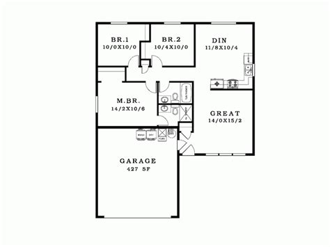 simple house blueprint eplans ranch plan good house